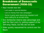 breakdown of democratic government 1930 3239