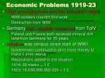 economic problems 1919 23