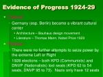evidence of progress 1924 2919