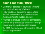 four year plan 1936