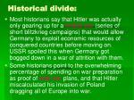 historical divide