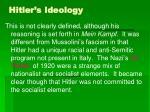 hitler s ideology