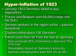hyper inflation of 1923