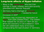 long term effects of hyper inflation