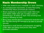 nazis membership grows