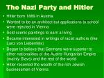 the nazi party and hitler