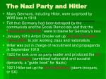 the nazi party and hitler27