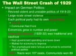 the wall street crash of 192931
