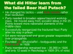what did hitler learn from the failed beer hall putsch