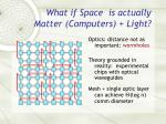what if space is actually matter computers light