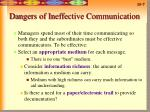 dangers of ineffective communication