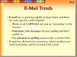e mail trends