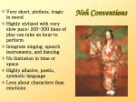 noh conventions