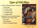 types of noh plays