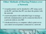 other methods of sharing printers over a network