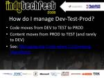 how do i manage dev test prod