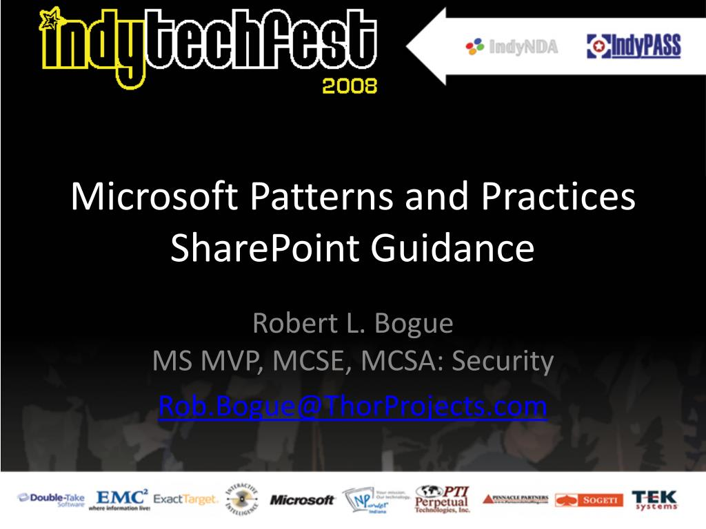 microsoft patterns and practices sharepoint guidance l.