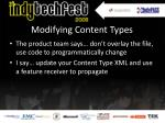 modifying content types