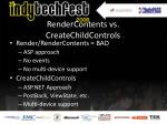 render contents vs createchildcontrols