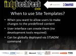when to use site templates