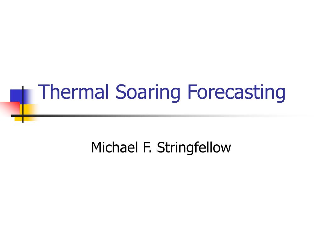 thermal soaring forecasting l.