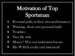 motivation of top sportsman