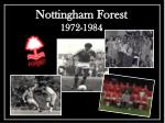 nottingham forest 1972 1984