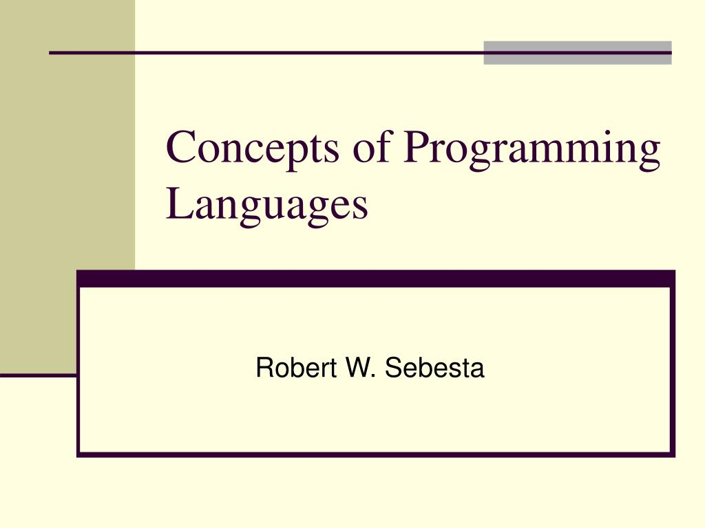 concepts of programming languages l.