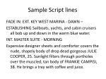 sample script lines