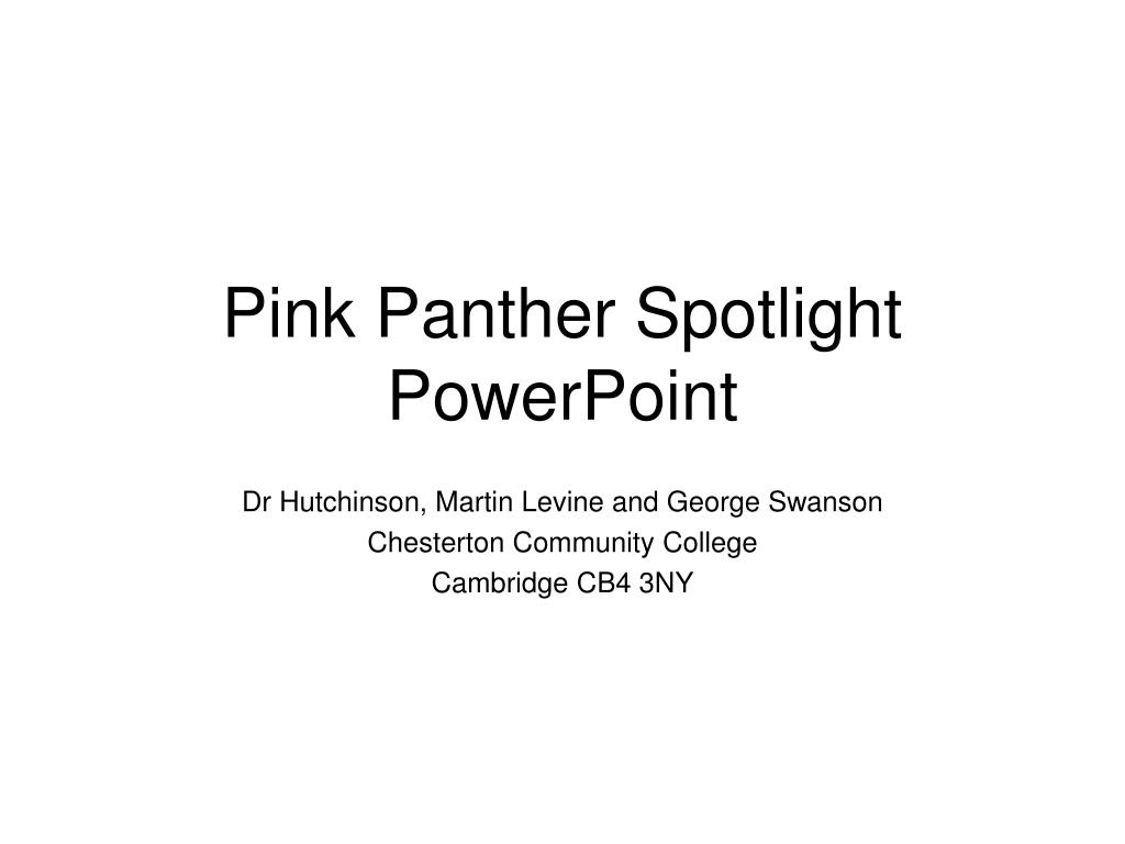 pink panther spotlight powerpoint l.
