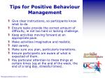 tips for positive behaviour management