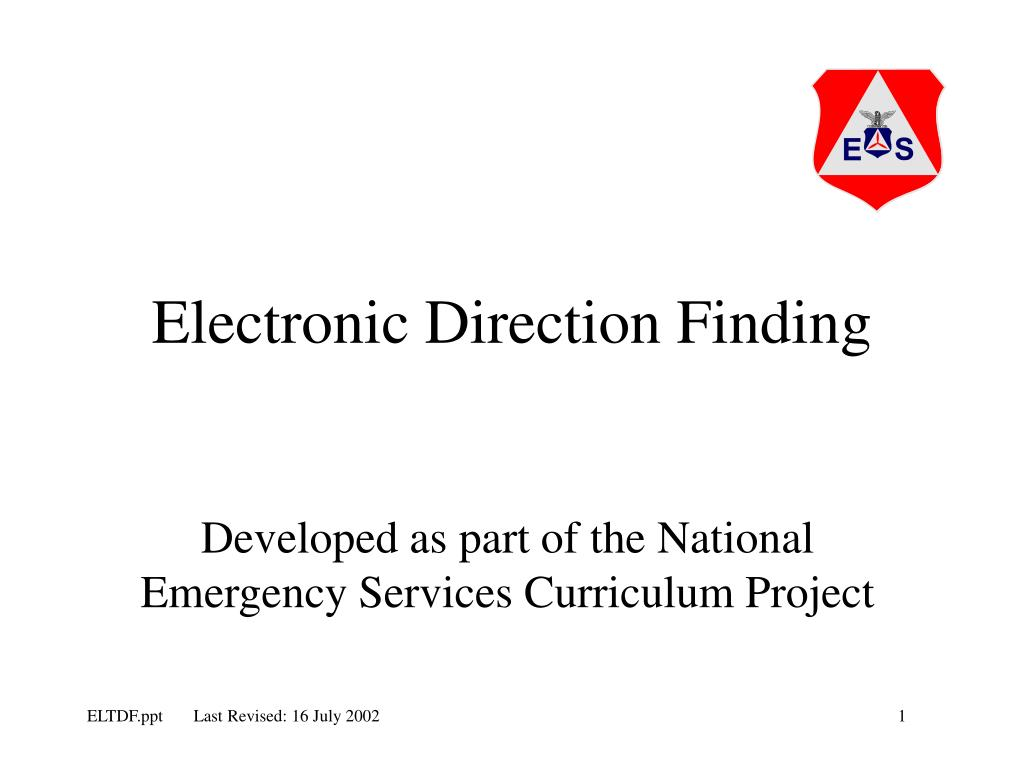 electronic direction finding l.