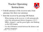 tracker operating instructions