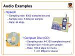 audio examples