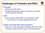 challenges of firewalls and nats