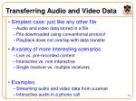 transferring audio and video data