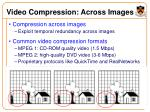 video compression across images