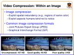video compression within an image