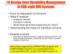 1 design time variability management in soa style dre systems