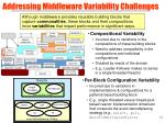addressing middleware variability challenges