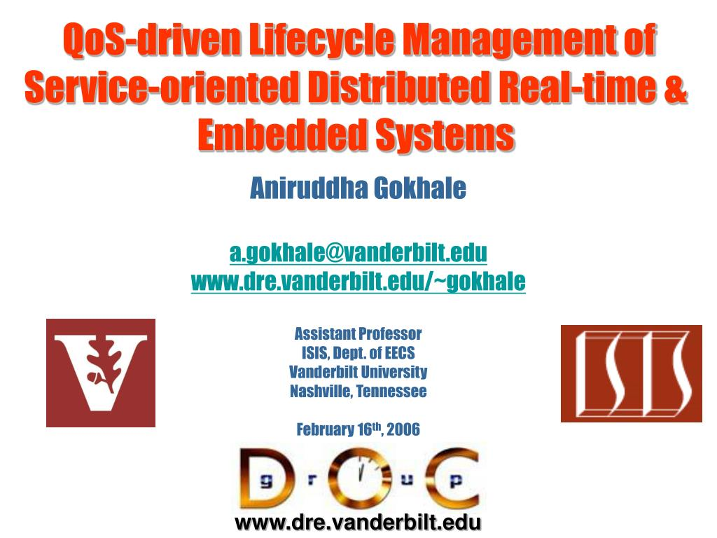qos driven lifecycle management of service oriented distributed real time embedded systems l.