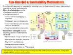 run time qos survivability mechanisms
