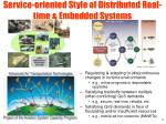 service oriented style of distributed real time embedded systems