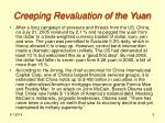 creeping revaluation of the yuan