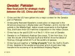 gwadar pakistan new focal point for strategic rivalry between the us china and india