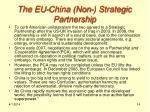 the eu china non strategic partnership