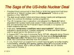 the saga of the us india nuclear deal