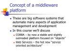 concept of a middleware platform