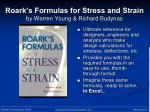 roark s formulas for stress and strain by warren young richard budynas