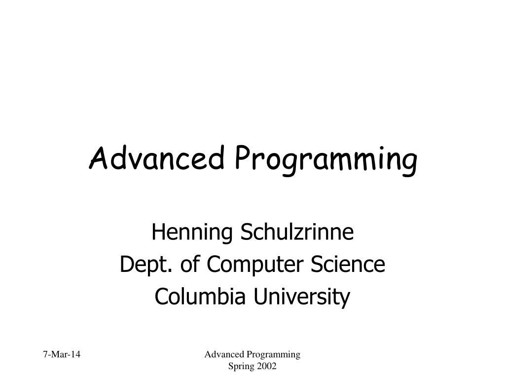 advanced programming l.